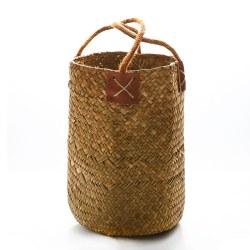 lavendel vas vävda diverse förvaringskorgar hängande rottingpott Yellow L