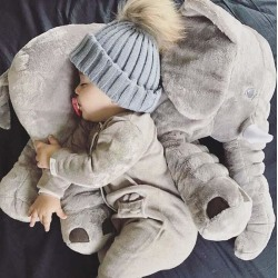 Beckasin Elefant kroppskudde/gosedjur Grey 60 cm