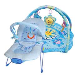 Ladida Babysitter och Babygym Blue Little Star Paketerbjudande Blå one size