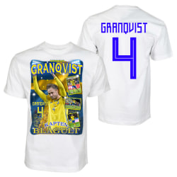 Andreas Granqvist Sverige t-shirt - Kapen blågult 140cl