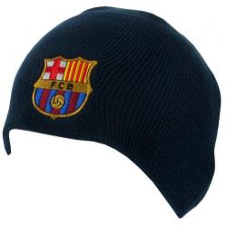 Barcelona navy vintermössa med klubbmärke
