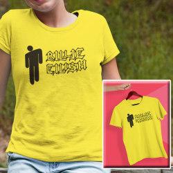 Billie Eilish gul barn T-shirt  130cl 7-8år