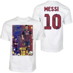 Barn T-shirt - Messi 10 - Barcelona - Tryck fram & bak 140cl