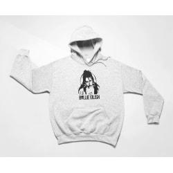 Billie Eilish barn Hoodie huvtröja t-shirt 128cl 7-8 år