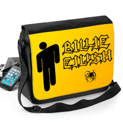 Billie Eilish väska med axelrem - skolväska Svart one size