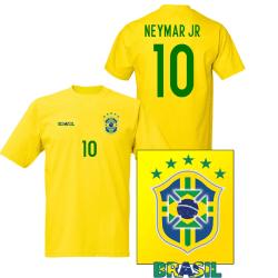 Brasil stil fotbollströja med Neymar Jr 10 tryck 152cl 12-13år