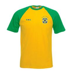 Brasilien stil fotboll t-shirt M