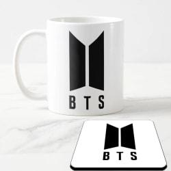 BTS Mugg + Underlägg med Bts Army design