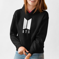 BTS stil svart  huvtröja barn K-pop SUGA sweatshirt tröja t-shir 140cl 9-11år