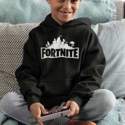 Fortnite barn Hoodie Sweatshirt t-shirt - Huvtröja 140cl 9-11år