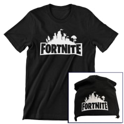 Fortnite barn t-shirt & beanie mössa paket  140