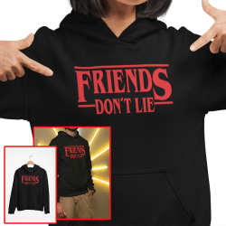 Friends don't lie huvtröja Stranger things hoodie t-shirt 164cl 14-16år