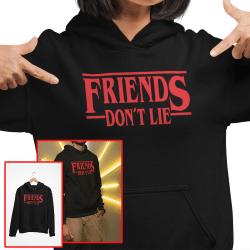 Friends don't lie huvtröja stranger things hoodie t-shirt Medium