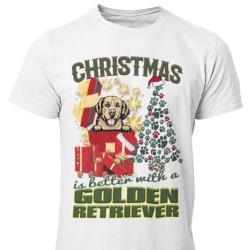 Golden retriever Jul  hund t-shirt  White XXXL