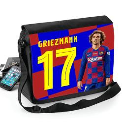 Griezmann Barcelona väska med axelrem - Skolväska Svart one size