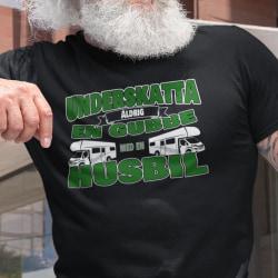 Husbil T-shirt Underskatta aldrig en gubbe med en husbil ! Black L