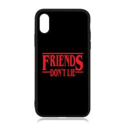 iPhone X / XS skal med Freinds don't Lie Stranger things inspire