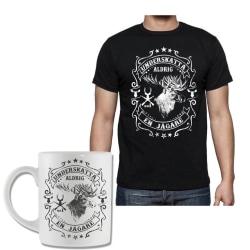 Jägare älg T-shirt & Mugg paket - Underskatta aldrig en Jägare XXL