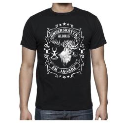 Jägare älg T-shirt - Underskatta aldrig en Jägare L
