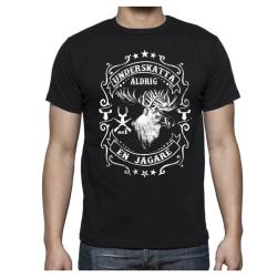 Jägare älg T-shirt - Underskatta aldrig en Jägare XL