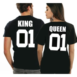 King t-shirt eller Queen t-shirt 01 tryck Small - Queen