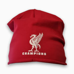 Liverpool Champions beanie mössa - Liverbird  Röd one size