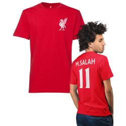 Liverpool stil röd t-shirt med Salah 11 på ryggen S