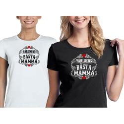 Mamma T-shirt , Världens bästa Svart - Large