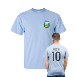 Messi stil Argentina fotboll t-shirt - ljus blå XX-Large