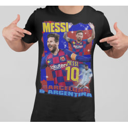 Messi T-shirt i svart 140cl 9-11år