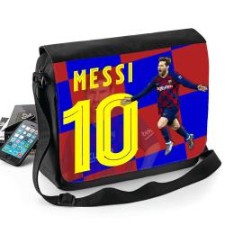Messi väska med axelrem - Skolväska Svart one size