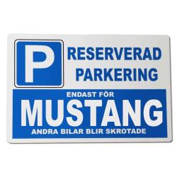 Metall plåtskylt med ' Mustang ' design - 30x20 cm skylt
