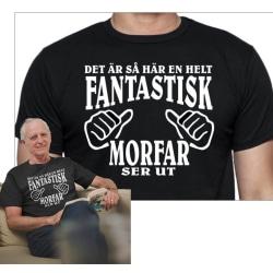 Morfar T-shirt & Morfar mugg paket XL