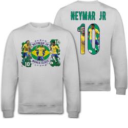 Neymar Jr Brasil sweatshirt med tryck fram & bak 140cl