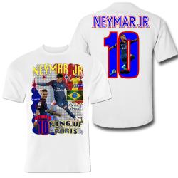 Neymar T-shirt king of Paris & Brasil  130