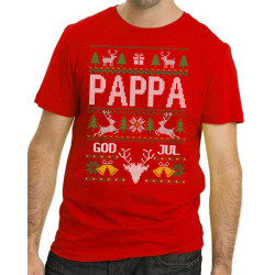 Pappa Jul T-shirt - Christmas jumper stil jultröja L