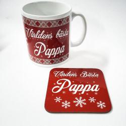 Pappa Mugg + Underlägg vinter paket : Världens bästa Pappa