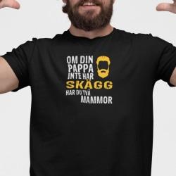 Pappa T-shirt med - Om din pappa inte har skägg har du 2 mammor Black L