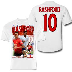 Rashford Man. Utd spelare t-shirt - polyester sports tröja 10 Medium