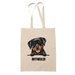 Rottweiler tygkasse hund shopping väska Tote bag  Natur one size