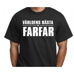 Svart T-shirt med design -Världens bästa Farfar L