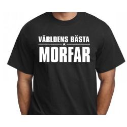 Svart T-shirt med design -Världens bästa Morfar L