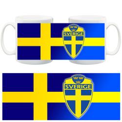 Sverige flagga & märke mugg