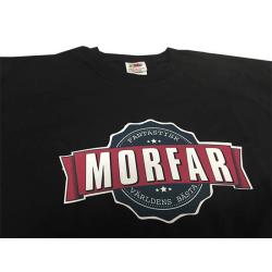 T-shirt med Morfar vintage stil färg tryck L