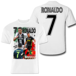 T-shirt Ronaldo Portugal & Juventus sports tröja Vit 130cl 7-8år
