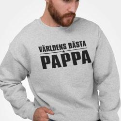 Världens Bästa Pappa sweatshirt tröja farsdag t-shirt M