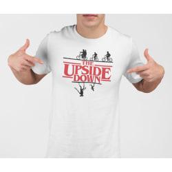 Stranger things vit t-shirt - The upside down - Barn 152