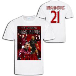 Zlatan Ibrahimovic - AC Milan  stil sports t-shirt  Vit L