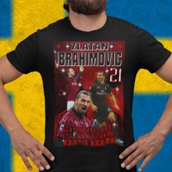 Zlatan Ibrahimovic t-shirt med Ac Milan stil design 152cl 11-13år