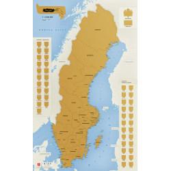 Sverige - Skrapkarta 9789984076966